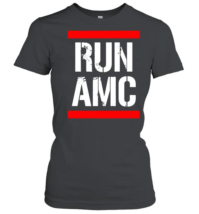 Run AMC Stock Meme Crypto  Classic Women's T-shirt