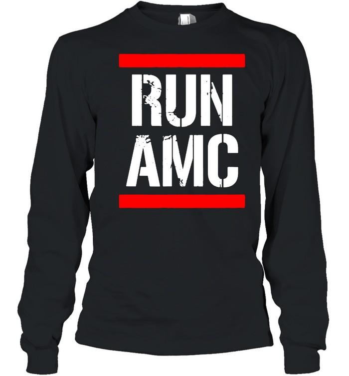 Run AMC Stock Meme Crypto  Long Sleeved T-shirt