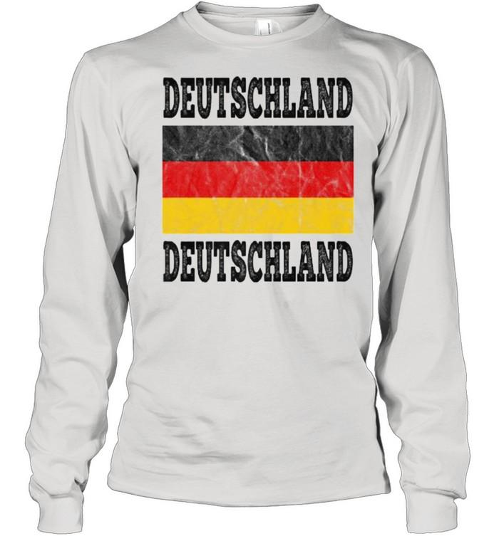 Germany Deutschland German Soccer football fan shirt Long Sleeved T-shirt