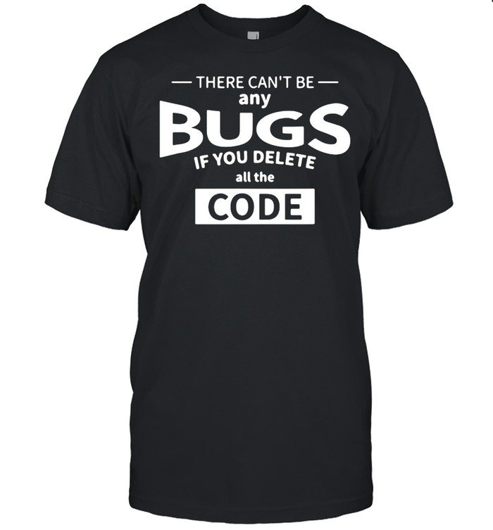 There can't be any bugs if you delete all code t-shirt Classic Men's T-shirt