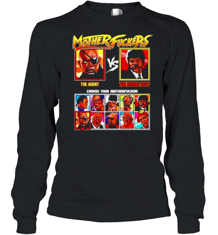 Mother fuckers The Agent vs The Ezekiel shirt Long Sleeved T-shirt