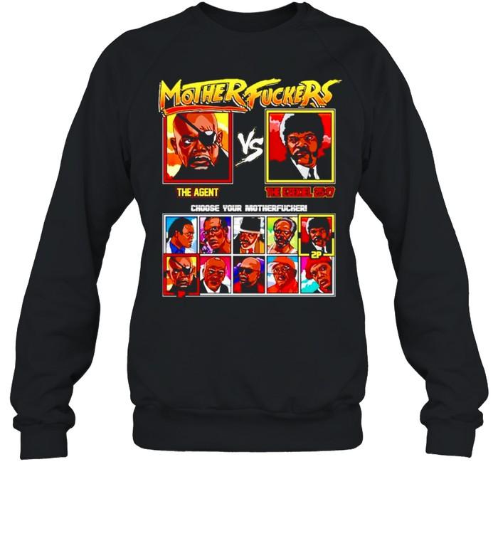 Mother fuckers The Agent vs The Ezekiel shirt Unisex Sweatshirt