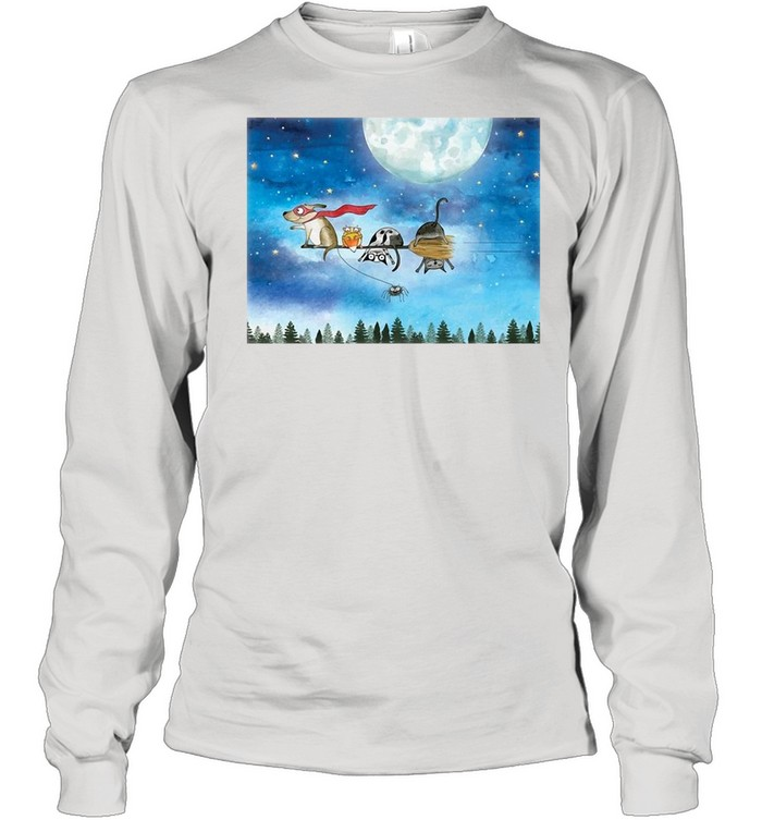 Broom Ride With Friends T-shirt Long Sleeved T-shirt