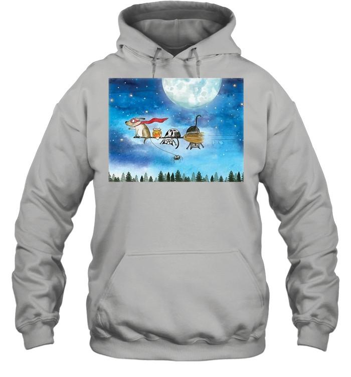 Broom Ride With Friends T-shirt Unisex Hoodie