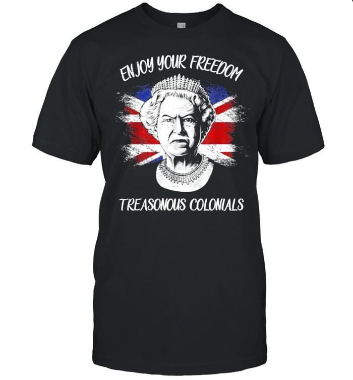 Enjoy Your Free_dom Treasonous Colonials Flag T- Classic Men's T-shirt