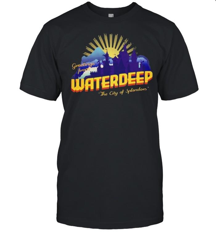 Waterdeep City Of Splendors Greetings Prone  Classic Men's T-shirt