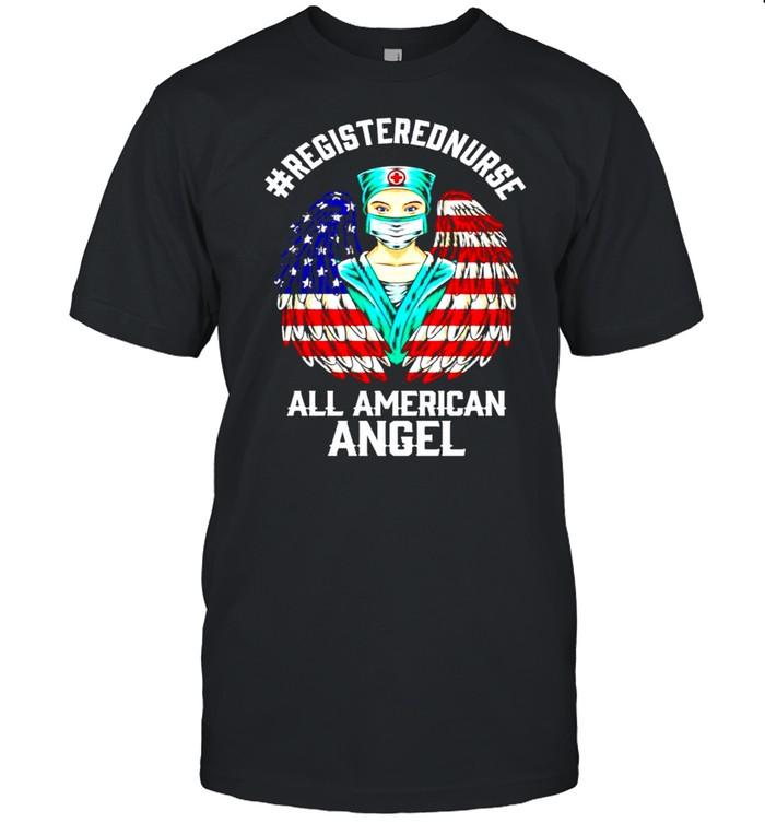 Registered nurse all American angel 4th of july shirt Classic Men's T-shirt
