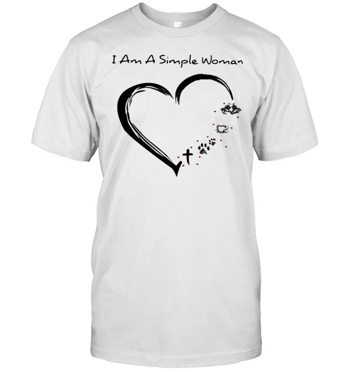 I Am a Simple Woman Triathlon Coffee Dog  Classic Men's T-shirt