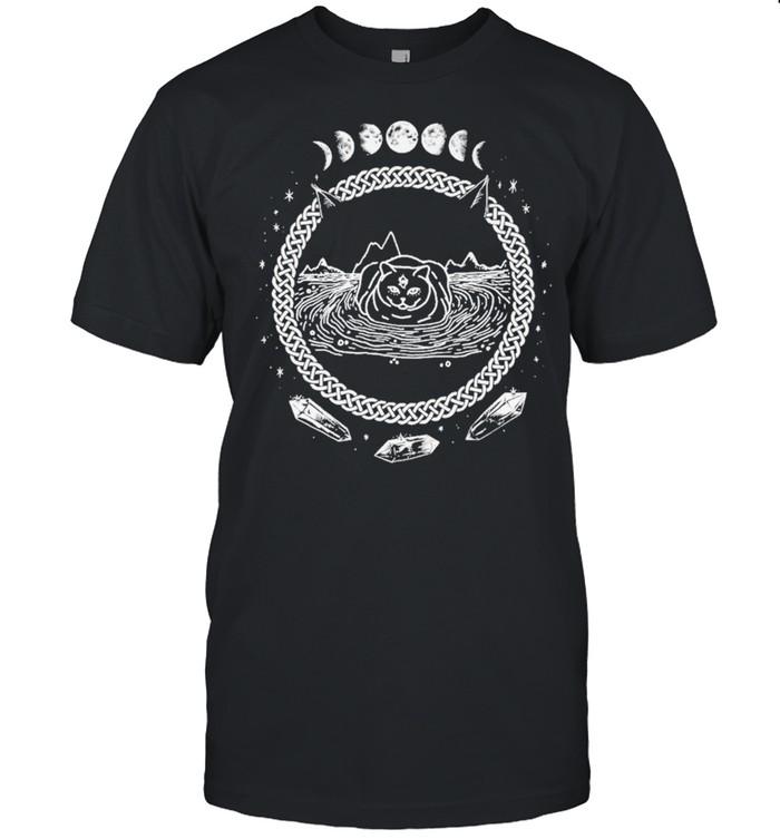 cat fondos de pantalla pentagram shirt Classic Men's T-shirt