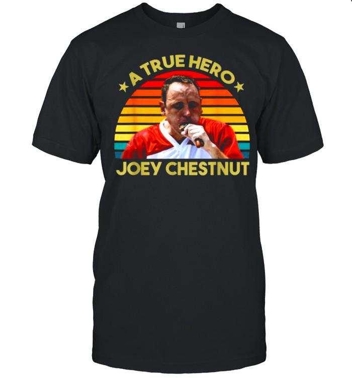 A true hero joey chestnut vintage shirt Classic Men's T-shirt