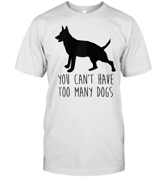 You Can't Have Too Many Dogs Rescue Dog Word Design shirt Classic Men's T-shirt