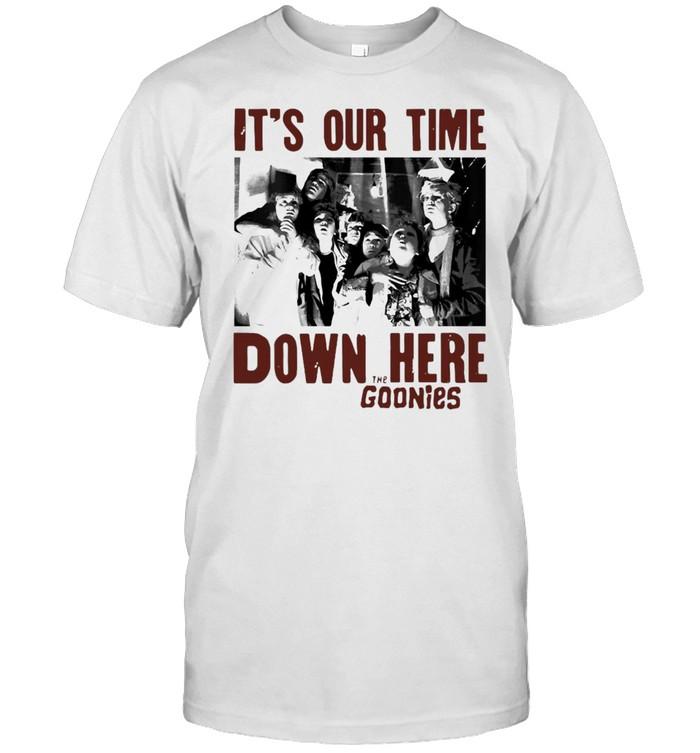 The Goonies It's Our Time Down Here Text Raglan Baseball T-shirt Classic Men's T-shirt