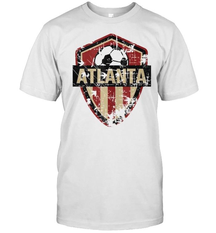 Atlanta Soccer Jersey Style Team Fan FC United Flag  Classic Men's T-shirt