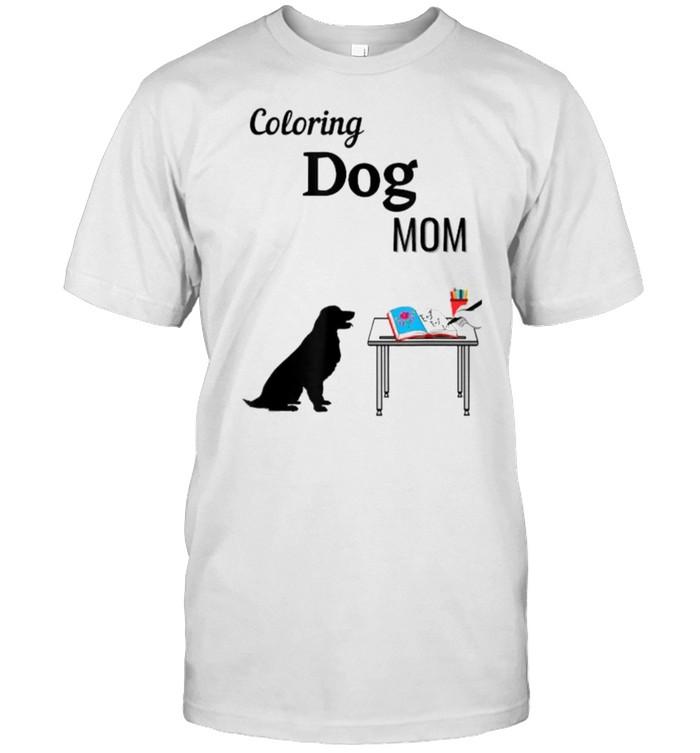 Coloring Dog Mom Waiting Book Artwork T- Classic Men's T-shirt