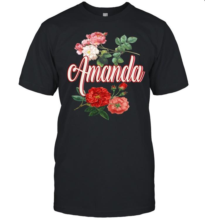 Amanda Name With Flowers shirt Classic Men's T-shirt