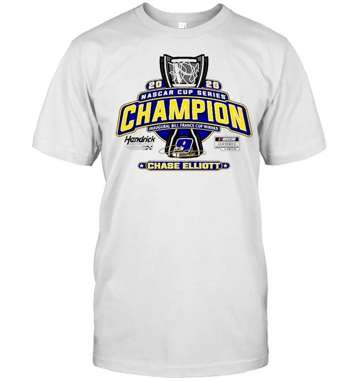 Mens Chase Elliott Hendrick Motorsports Team Collection White 2020 NASCAR Cup Series Champion Trophy shirt Classic Men's T-shirt
