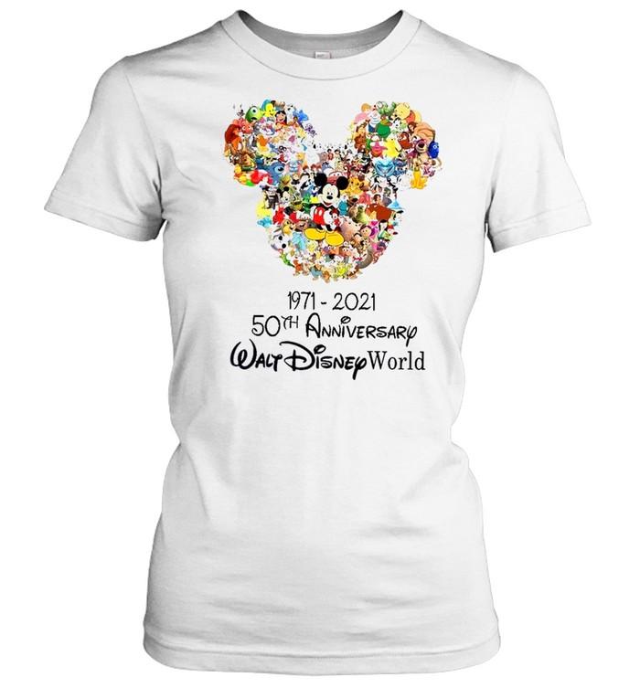 1971 2021 50th anniversary walt disney world shirt Classic Women's T-shirt