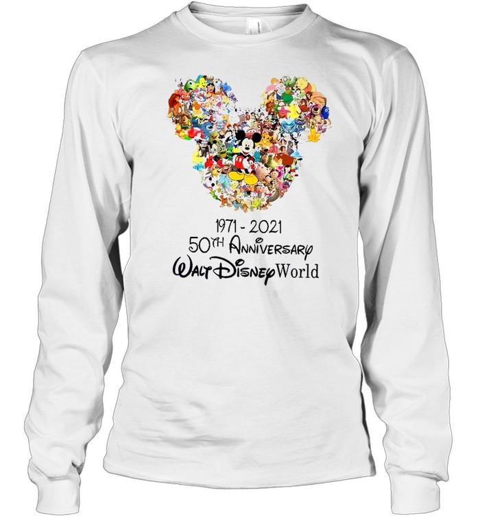 1971 2021 50th anniversary walt disney world shirt Long Sleeved T-shirt