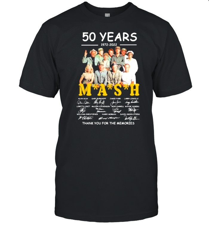 50 years 1972 2022 mash thank you for the memories signatures shirt Classic Men's T-shirt