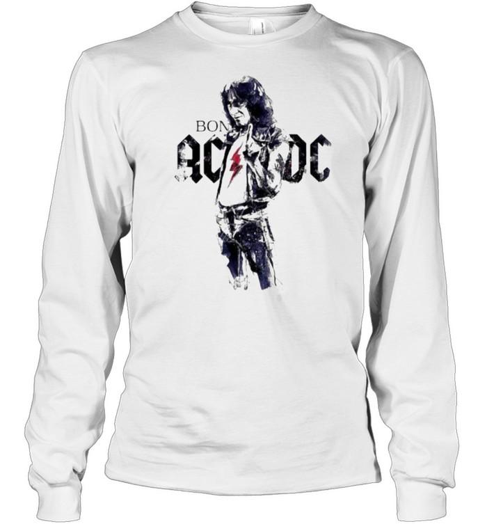 Bon scott ac dc band music shirt Long Sleeved T-shirt