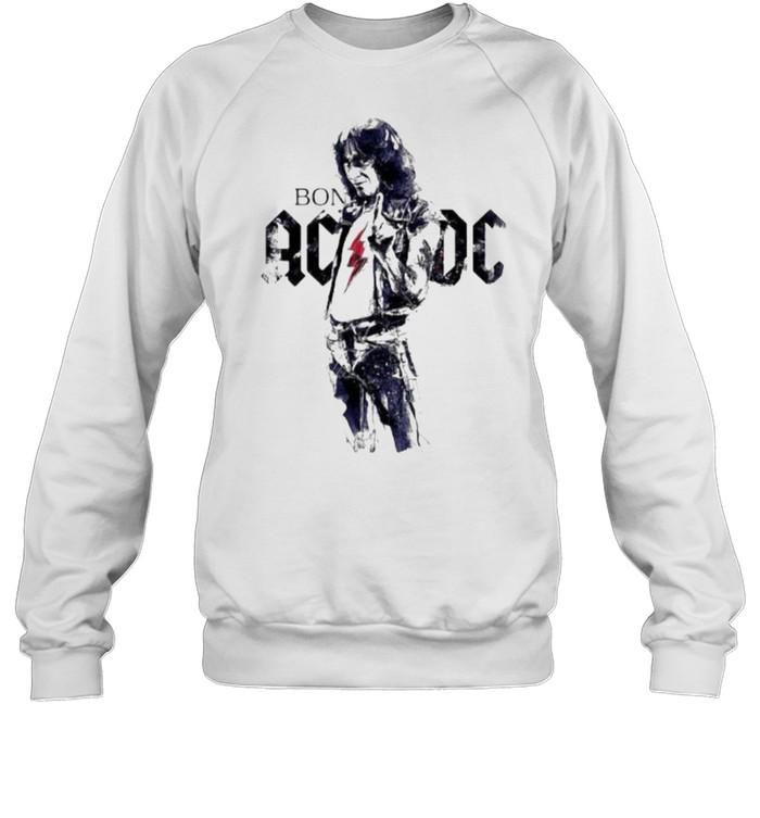 Bon scott ac dc band music shirt Unisex Sweatshirt