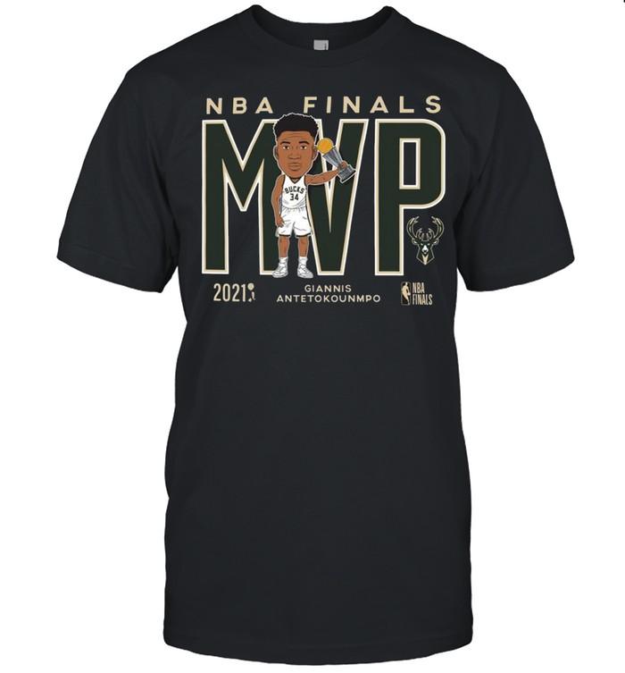 Brand 2021 NBA Champions Giannis MVP Milwaukee Bucks shirt Classic Men's T-shirt