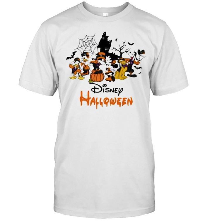 Disney halloween pumpkin mickey minnie donald duck shirt Classic Men's T-shirt