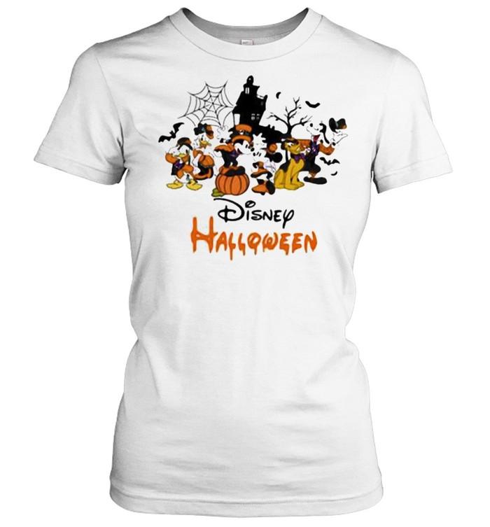 Disney halloween pumpkin mickey minnie donald duck shirt Classic Women's T-shirt