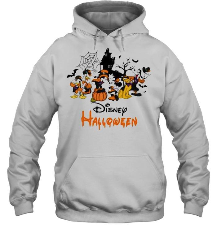 Disney halloween pumpkin mickey minnie donald duck shirt Unisex Hoodie
