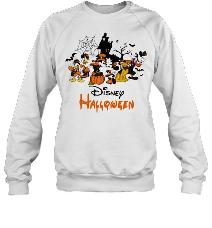 Disney halloween pumpkin mickey minnie donald duck shirt Unisex Sweatshirt