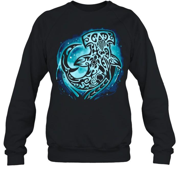 Hammerhead Shark Hawaiian Polynesian Maori shirt Unisex Sweatshirt