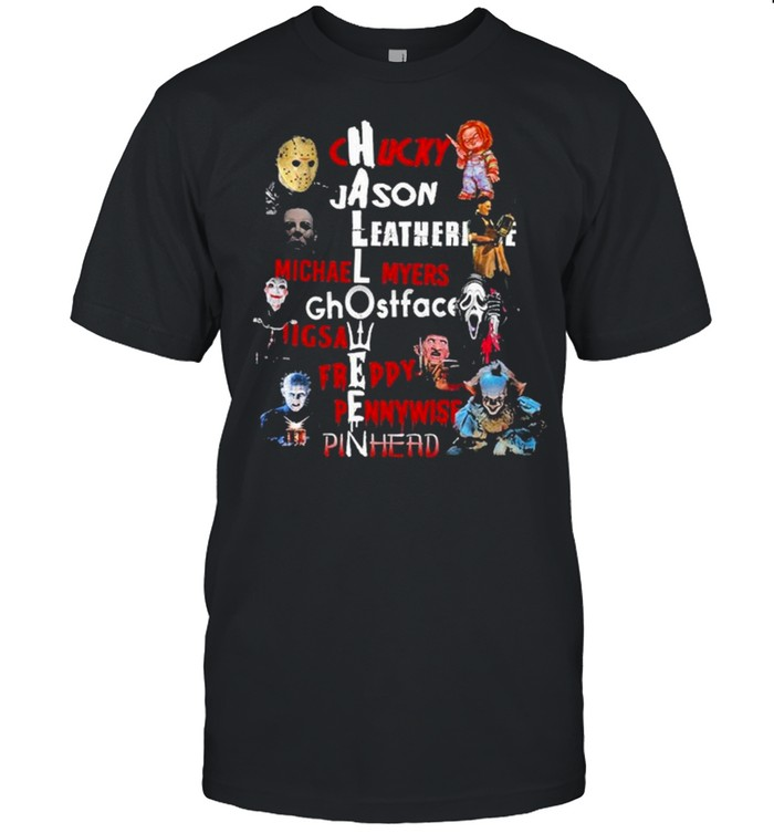 Chucky and Jason and Leatherface Michael Myers Horror movie Characters Halloween shirt Classic Men's T-shirt