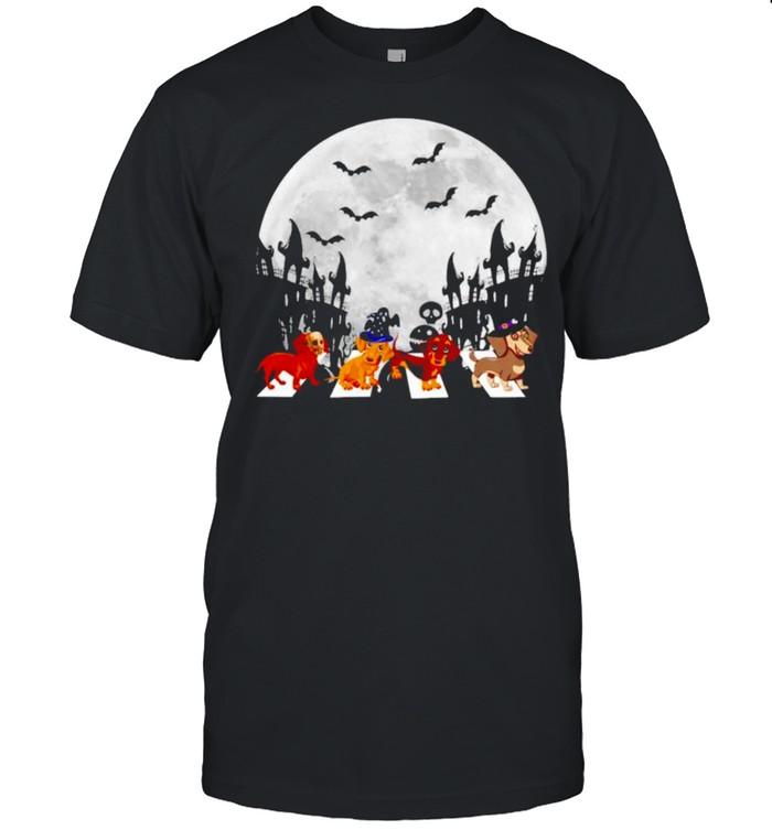 Dachshund Abbey Road Halloween shirt Classic Men's T-shirt