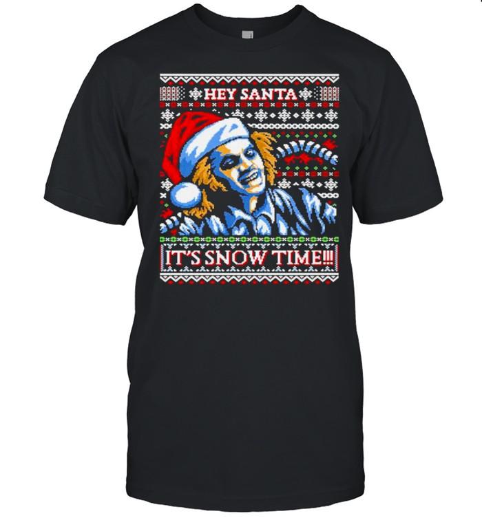 Beetlejuice hey Santa it's snow time shirt Classic Men's T-shirt
