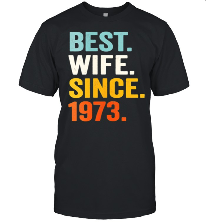 Best Wife Since 1973 48th wedding anniversary 48 years  Classic Men's T-shirt
