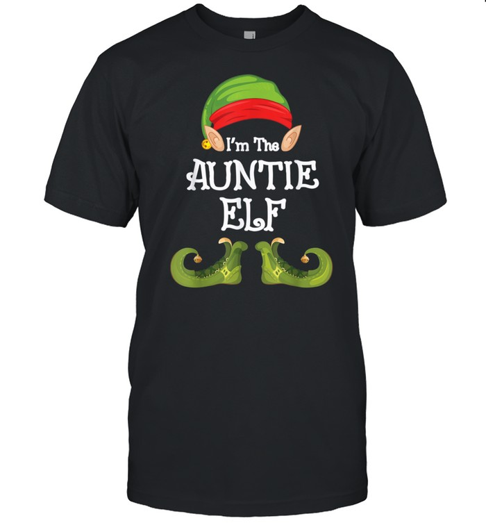 AUNTIE Elf Cute Matching Family Group Christmas Party Pajama shirt Classic Men's T-shirt