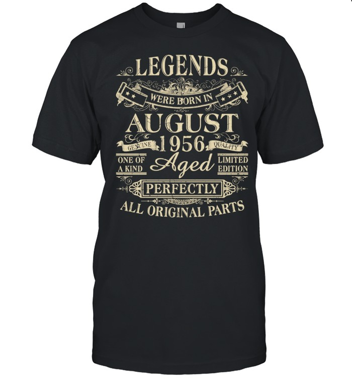 Legends Were Born In August 1956 65th Birthday shirt Classic Men's T-shirt