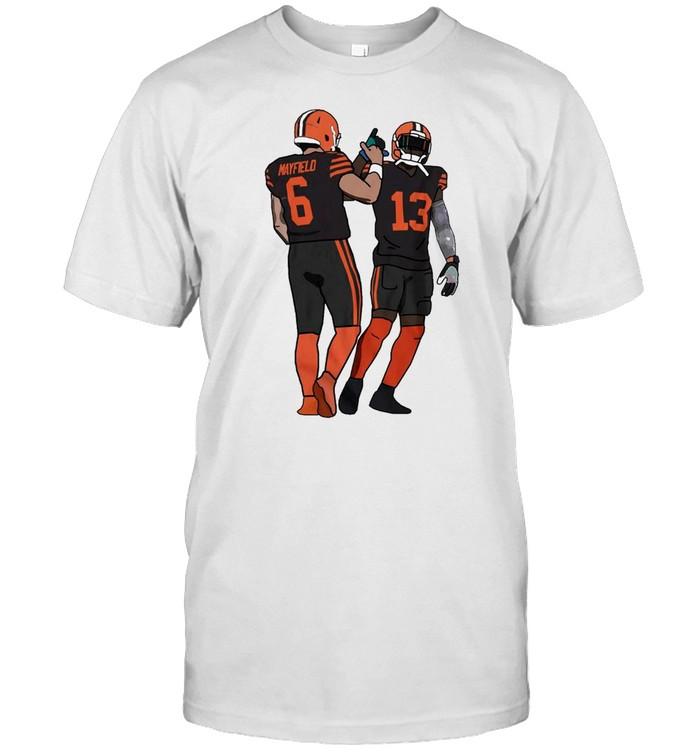 Cleveland Browns Baker Mayfield And Odell Beckham Jr Best Friends  Classic Men's T-shirt