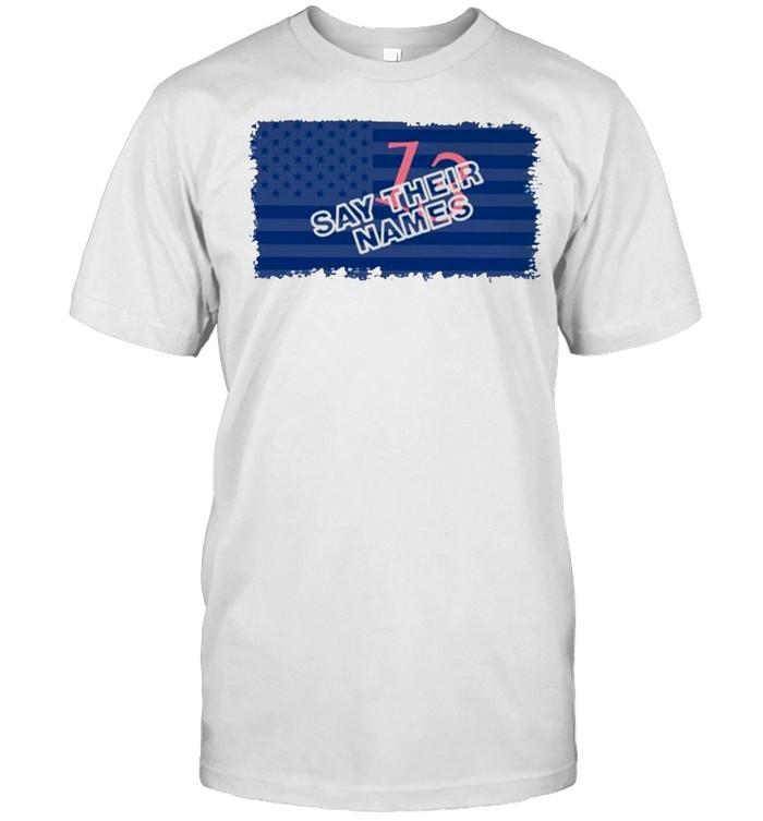 13 say their names American flag shirt Classic Men's T-shirt