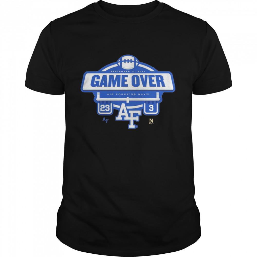 Air Force Falcons vs. Navy Midshipmen 23 3 game over shirt Classic Men's T-shirt