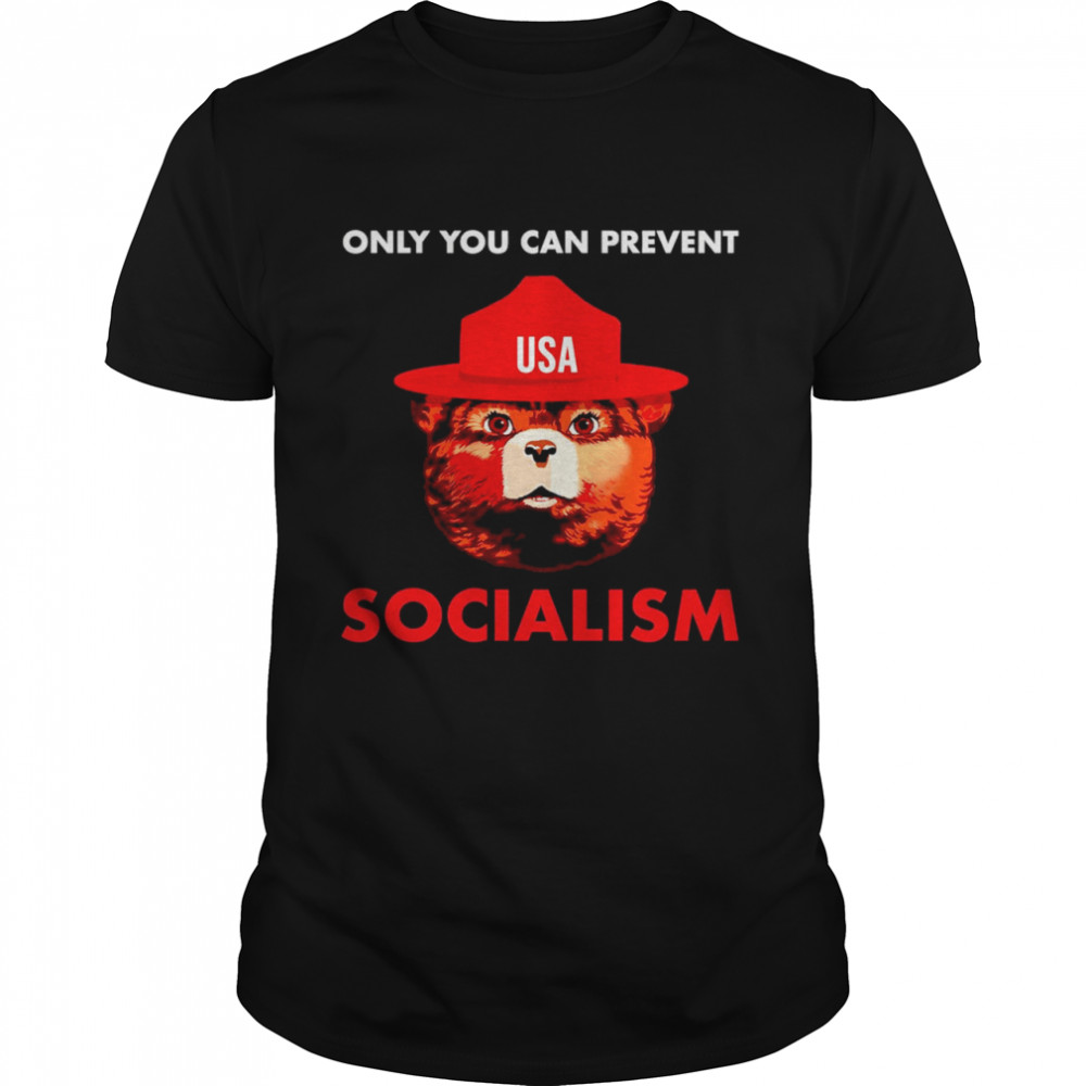 Bear USA Only You Can Prevent Socialism  Classic Men's T-shirt