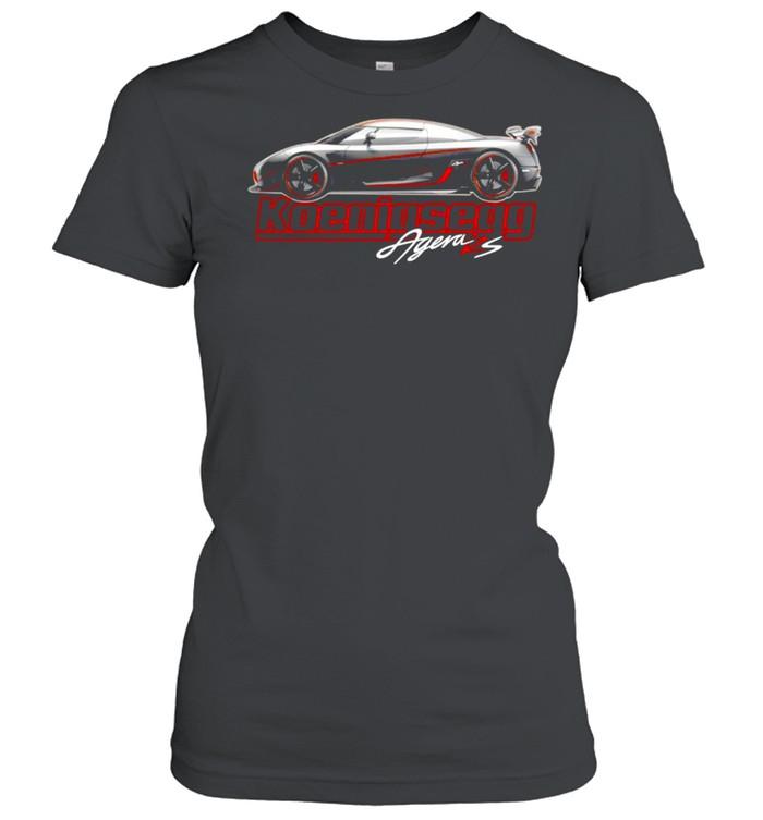 Argen Rs Koenigsegg Sports car shirt Classic Women's T-shirt