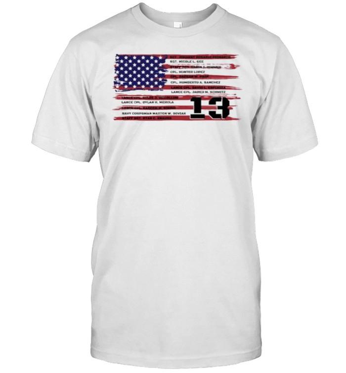 American Flag Name 13 Fallen Heroes  Classic Men's T-shirt