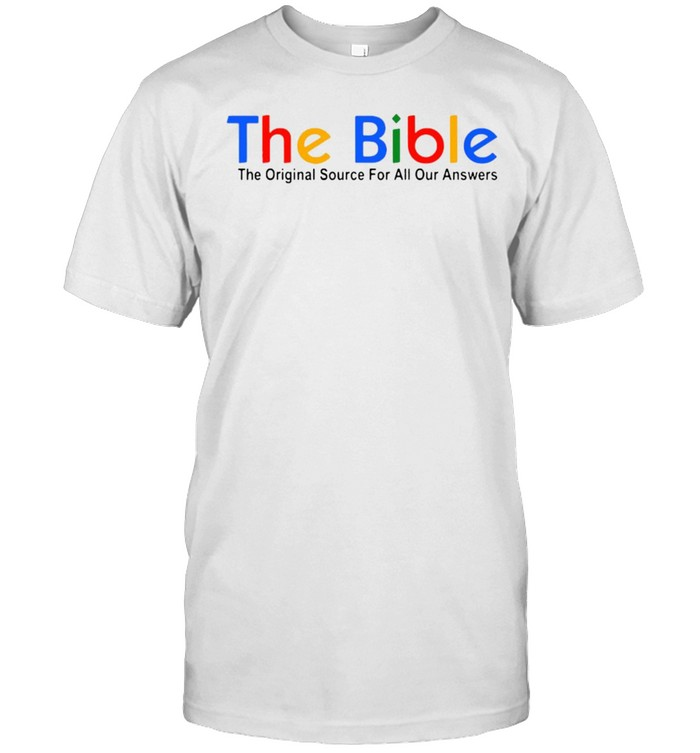 The Bible The Original Source For All Our Answers T-shirt Classic Men's T-shirt