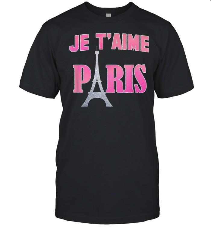 Trendy Je T'Aime Paris Eiffel Tower Gradient shirt Classic Men's T-shirt