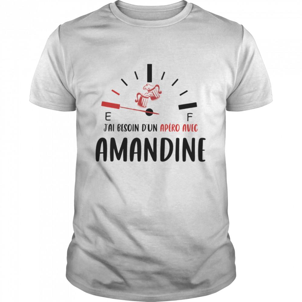 Jai Besoin D'un Apero Avec Amandine shirt Classic Men's T-shirt
