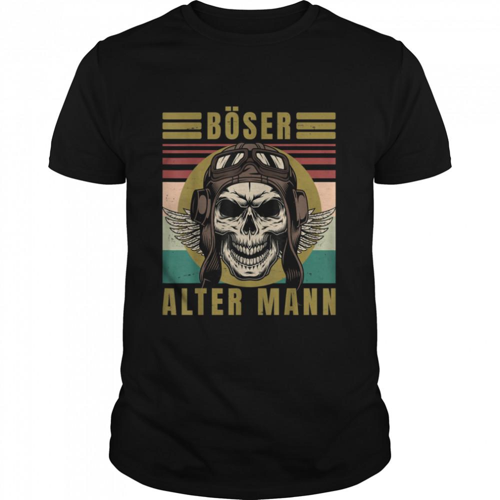 Men's evil old man skull vintage biker gear  Classic Men's T-shirt