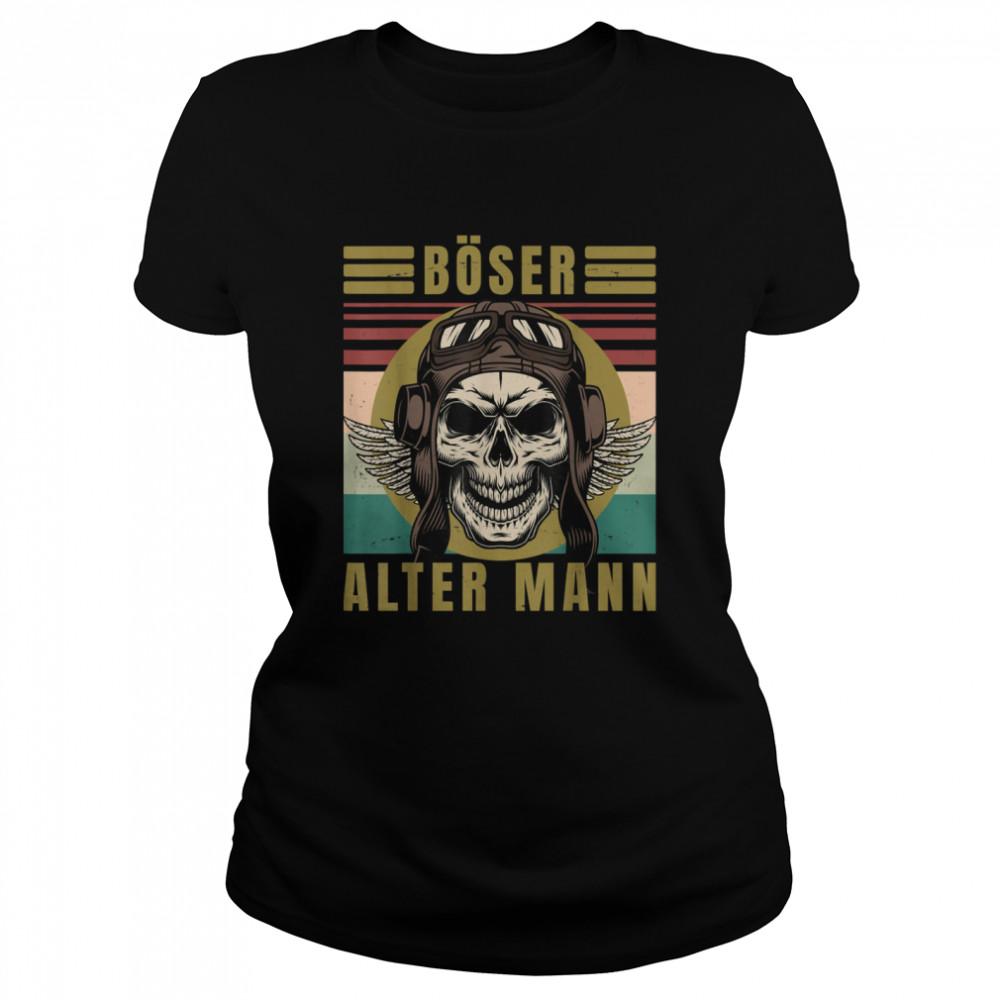 Men's evil old man skull vintage biker gear  Classic Women's T-shirt