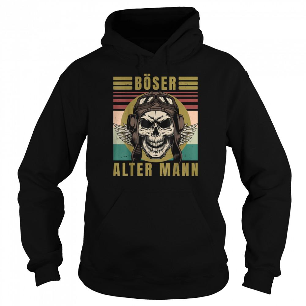 Men's evil old man skull vintage biker gear  Unisex Hoodie