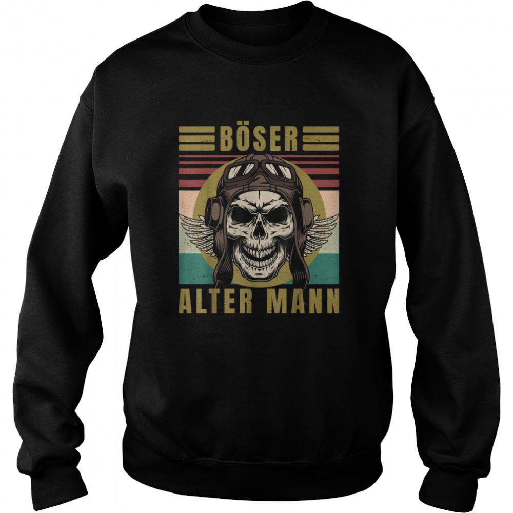 Men's evil old man skull vintage biker gear  Unisex Sweatshirt